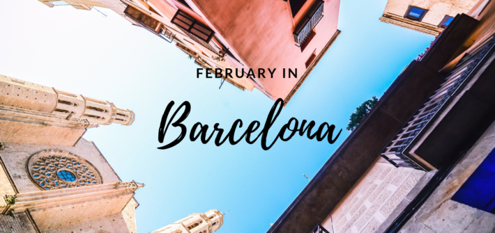 February in Barcelona