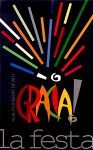 CARTELL 2011 Festa Major de Gracia 186x300 Fiesta Mayor de Gracia. Barcelona