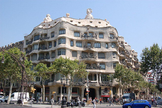 Casa Mila Gaudís Casa Milà will be hidden for the whole year