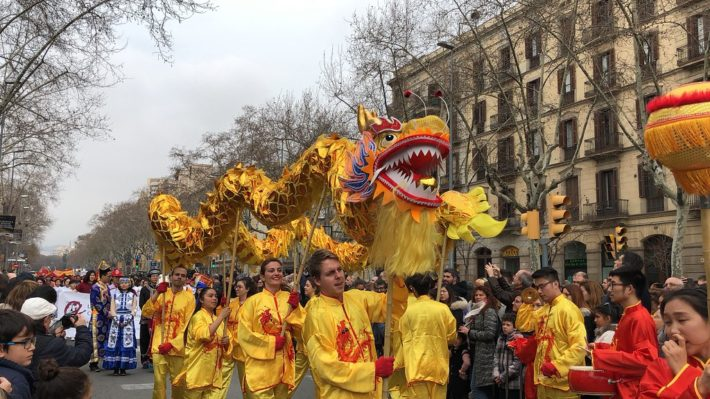 Chinese New Year celebration in Barcelona Picture courtesy of Flickr e1575550262674 January in Barcelona