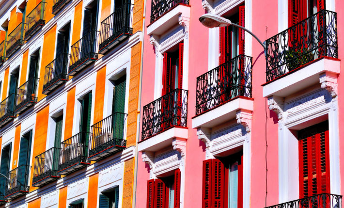 Colourful buildings in Malasaña Photo by Pedro Otones flickr e1549967021464 10 things to do in Madrid's Malasaña