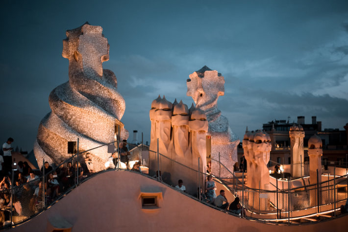 Evening jazz concert series at Casa Milà Picture courtesy of Driftwood Journals e1561123365378 July in Barcelona