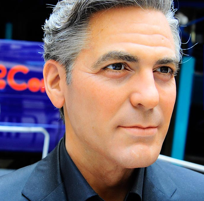George-Clooney in wax museum-madrid