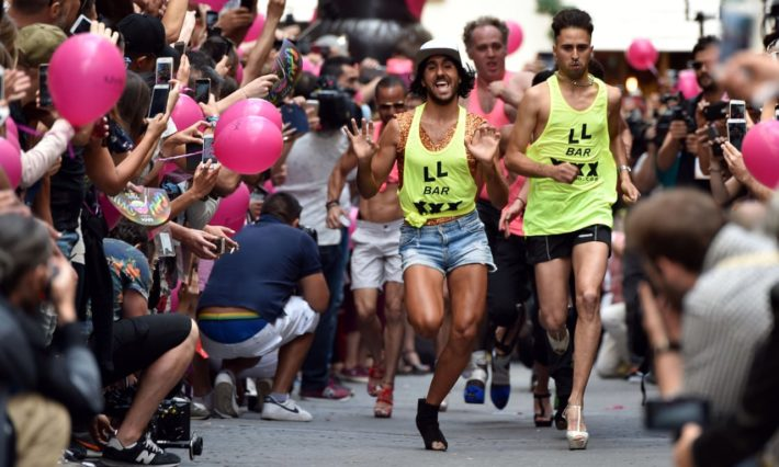 High Heel Race Picture courtesy of The Guardian e1560941512611 July in Madrid