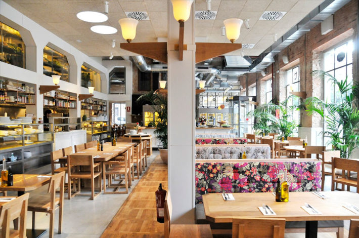 Interior in the Tallers restaurant e1547551857516 A guide to vegetarian & vegan Barcelona