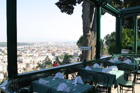 %name Lo Zodiaco Restaurant in Rome: the best panoramic view ever