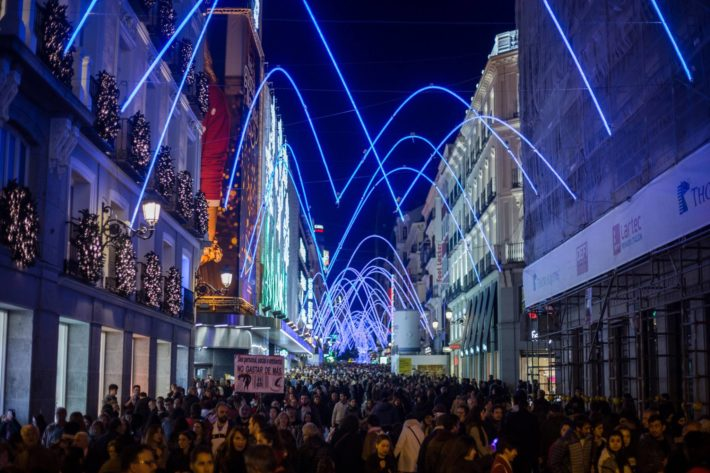 Madrid Christmas lights Picture courtesy of MadridPride e1573722149653 December in Madrid