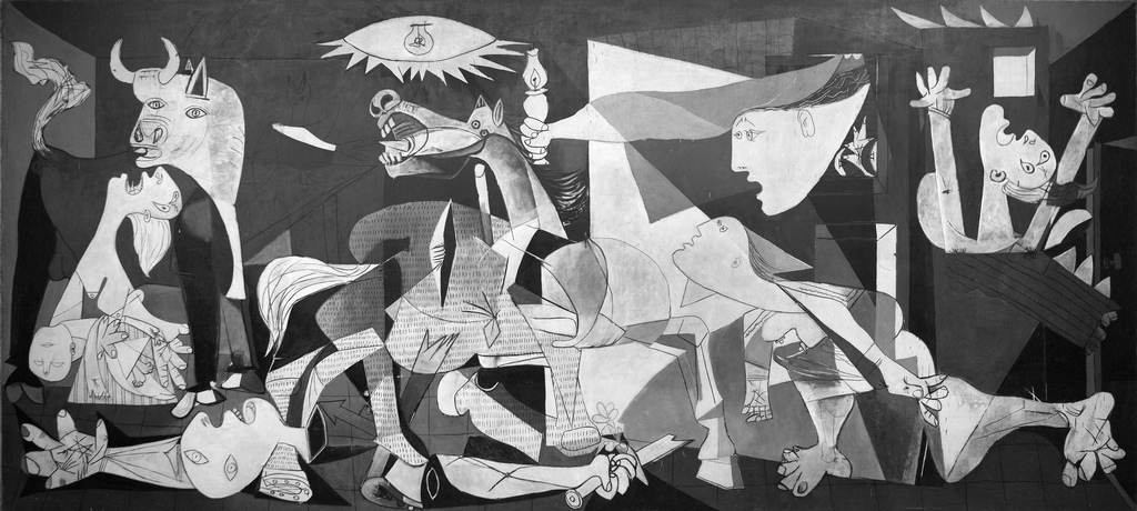 Picasso Guernica hq July in Madrid   Fiestas, Parades, and Art
