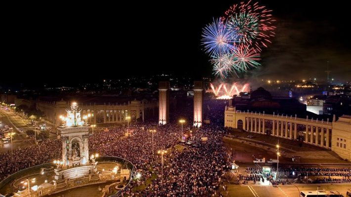 Plaça d´Espanya Picture courtesy of youtube e1574761316452 New Year´s Eve Traditions in Barcelona