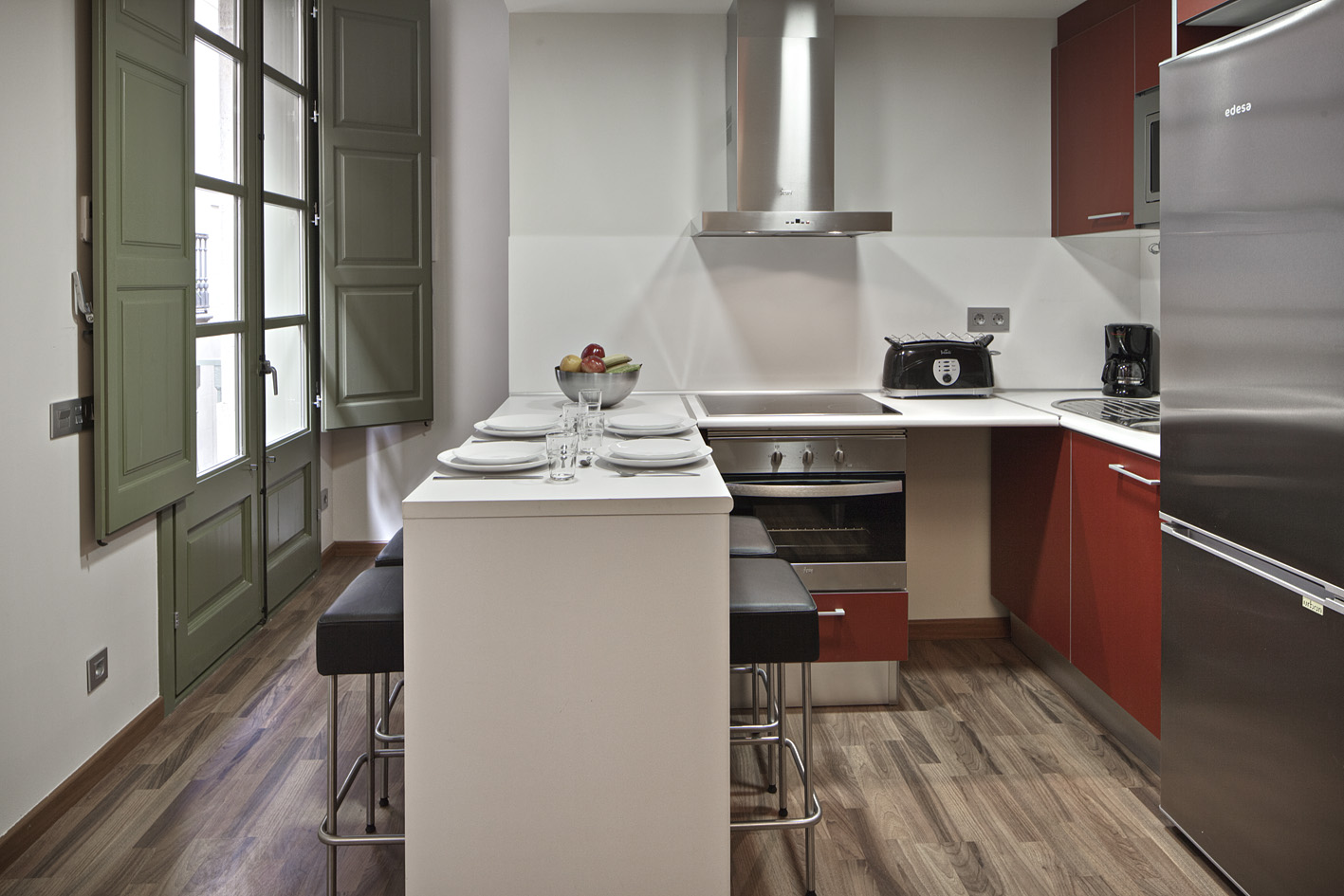 Plaza Real 12 apartment kitchen Amazing Apartments next to Las Ramblas   the Heart of Barcelona