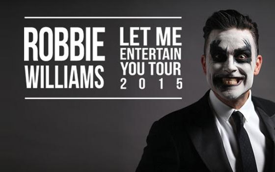 Robbie Williams Let Madrid Entertain You   The Place To Be In March!