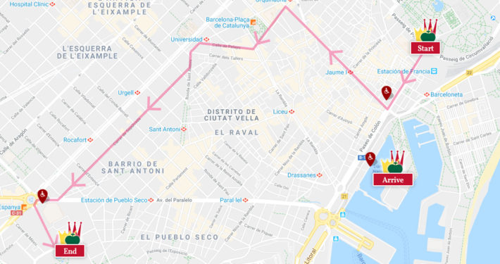 Route of the parade Photo courtesy of Ajuntament de Barcelona e1546263821337 The finale of Christmas