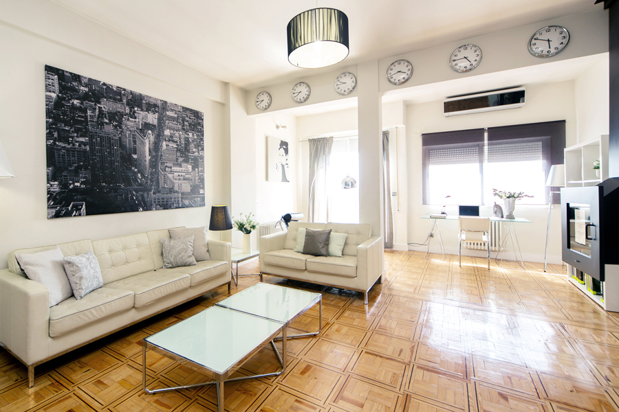 alcala design deluxe apartment madrid livingroom 2 a1 Madrid During April and Easter Holidays   Fun For all The Family