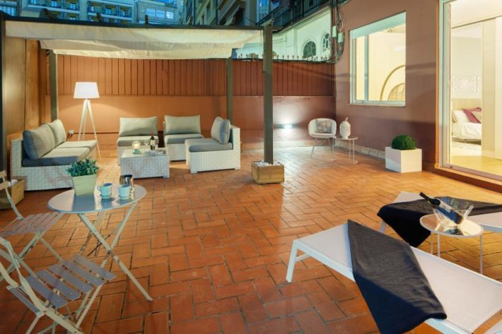 barcelona plaza terrace apartment barcelona terrace view 3  e1535970247649 Featured Apartment of the Month – Barcelona Plaza Terrace