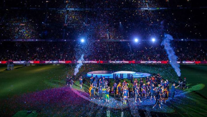 barcelona treble celebration camp nou 9ux76b2ojv2xzfq9hc4ow9vl e1532099253871 August in Barcelona