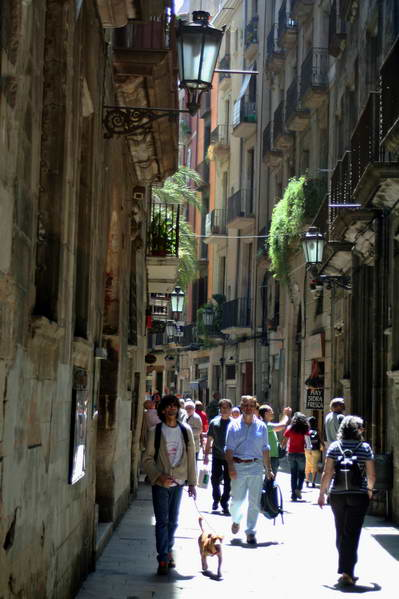 barri gotic Il quartiere gotico