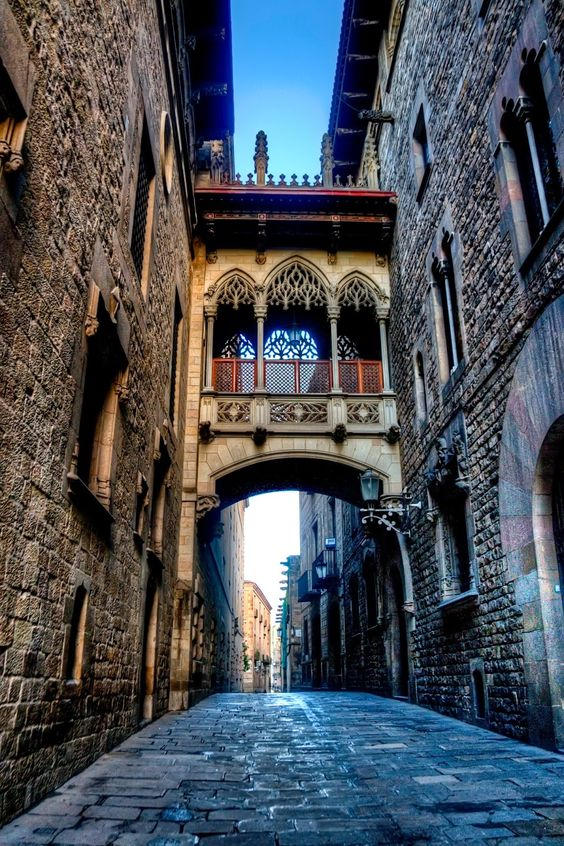 carrer del bisbe Barcelonas districts, this month: Gothic quarter