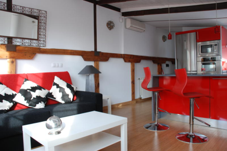 chueca terrace apartment madrid living b New apartments in Madrid!!