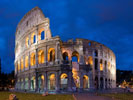 Colisseum in Rome. Italian Night