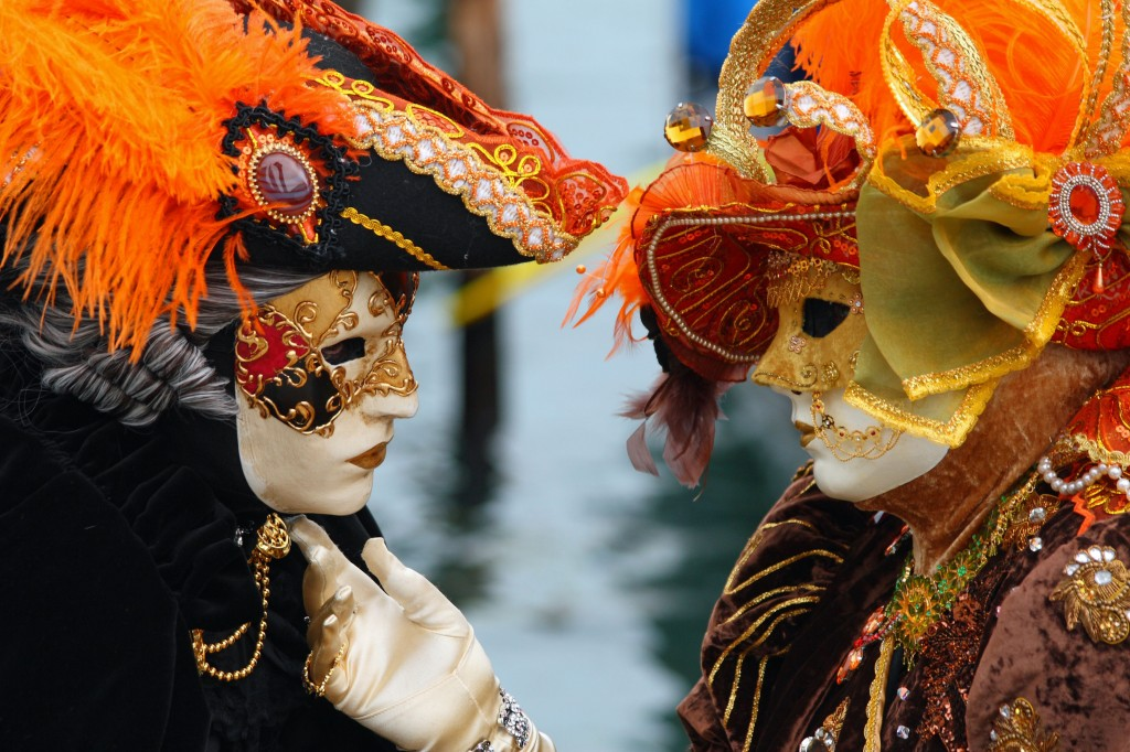 couple in love carnival venice