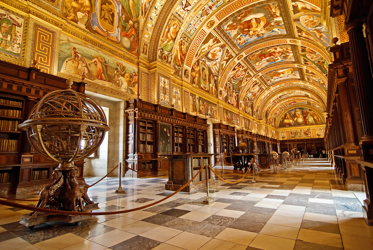 el escorial library Jose Maria Cuellar flickr El Escorial   the Royal Monastery near Madrid
