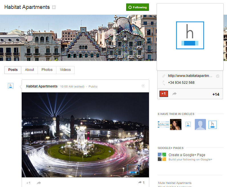 habitat apartmantes google plus