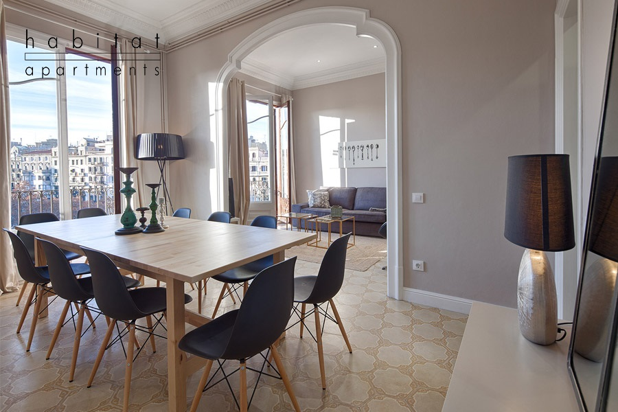 modernista apartment barcelona dining room a21 Habitat Apartments is Now Giving Out free Tablets to Use With Each Rental!