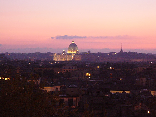 panorama di roma Lo Zodiaco Restaurant in Rome: the best panoramic view ever