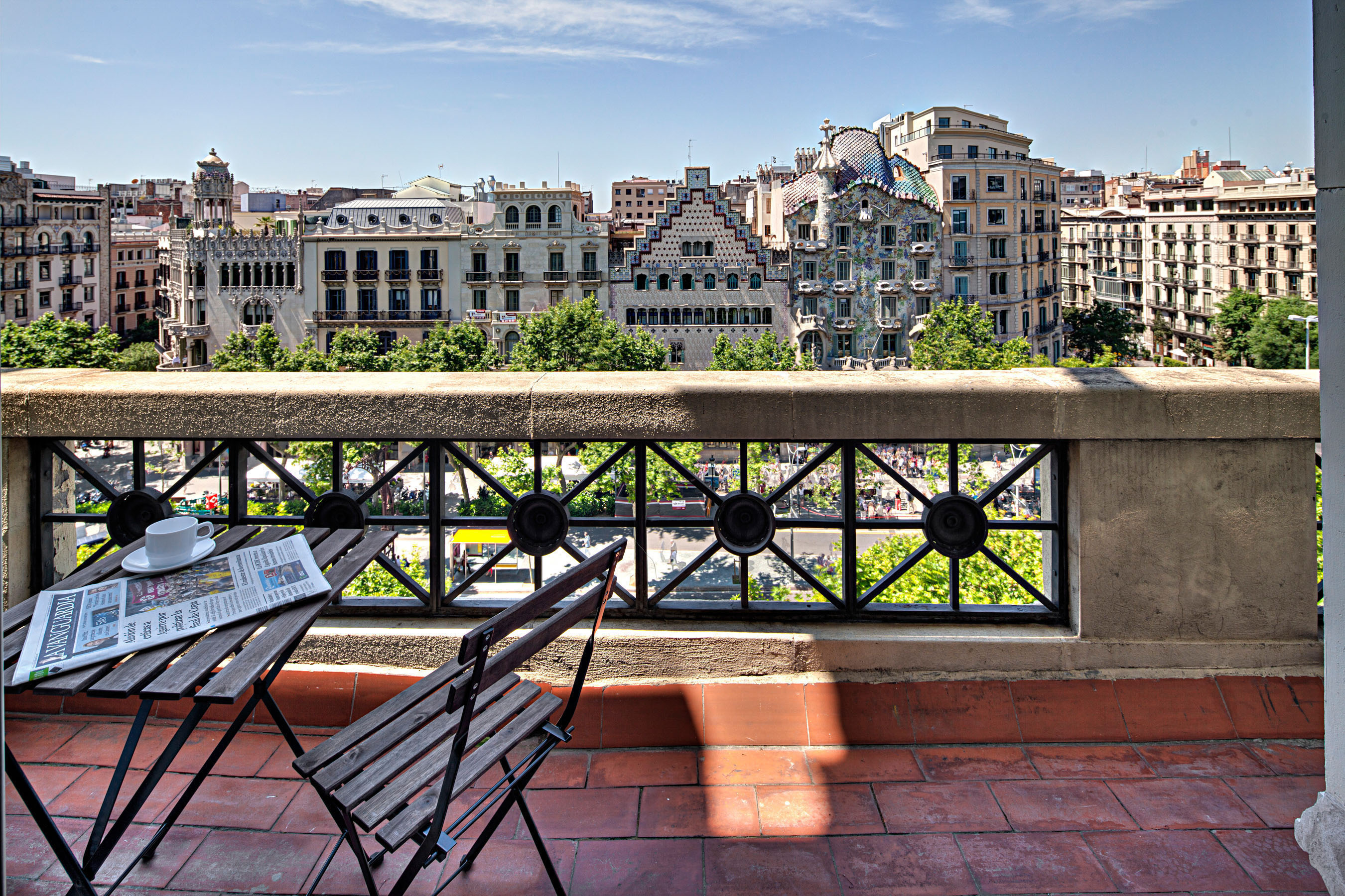 paseo de gracia A apartment barcelona terrace Apartments with beautiful views over Barcelona