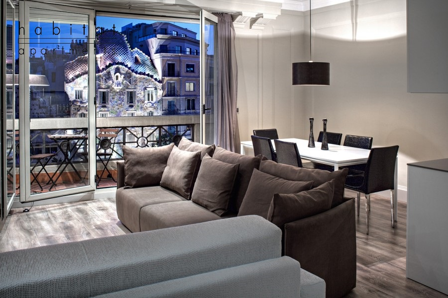 paseo de gracia a apartment barcelona sofa a1 Habitat Apartments Nominations in European Holiday Home Awards 2015