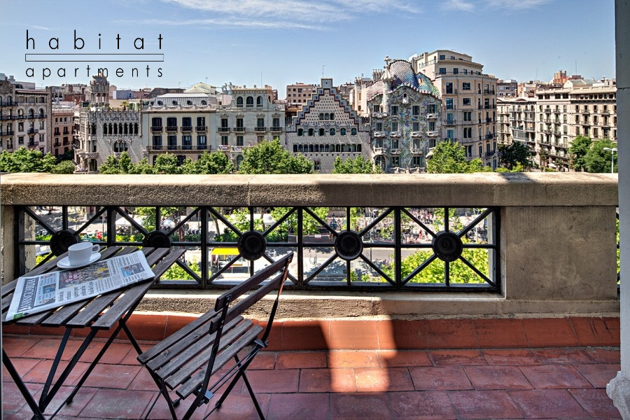 paseo de gracia a apartment barcelona terrace a1 Paseo De Gracia A Wins Luxury Apartment of the Year