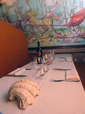 Restaurante Crispi 19 . Private room. Rome