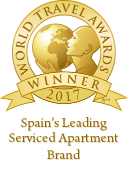 spains leading serviced apartment brand 2017 winner shield 256 Habitat Apartments   winner of the World Travel Award 2017!