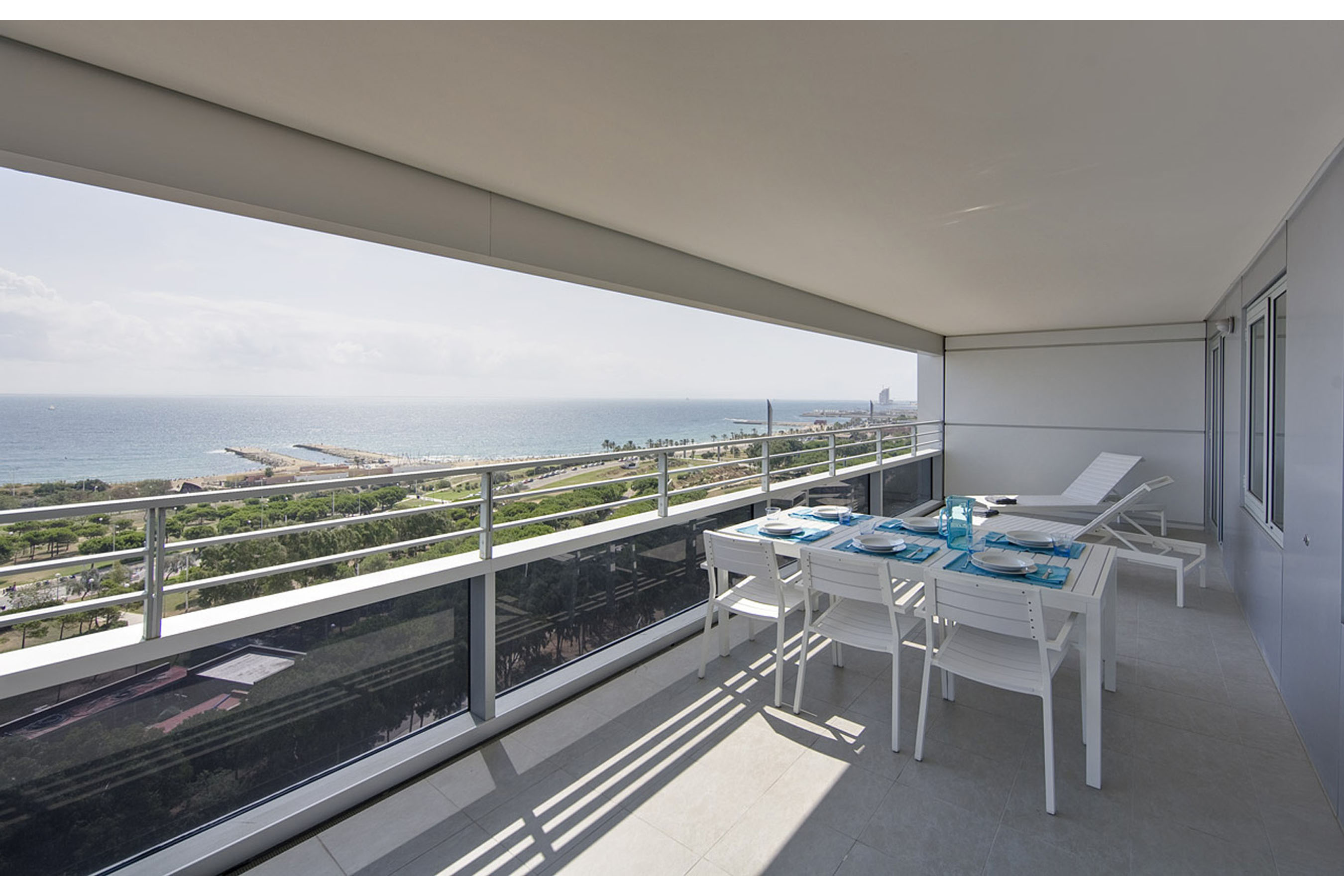 vista apartment barcelona terrace Featured apartment of the month   Vista